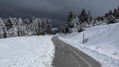 Στον Παρνασσό τα θερμόμετρα έδειξαν -27 βαθμούς Κελσίου υπό το μηδέν