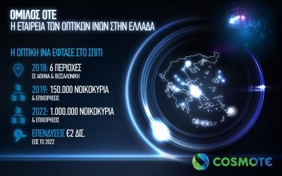Cosmote: Οι νέες περιοχές με οπτική ίνα μέχρι το σπίτι