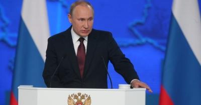 Putin: Υποχωρεί σταδιακά η πανδημία στη Ρωσία - Όχι στη χαλάρωση