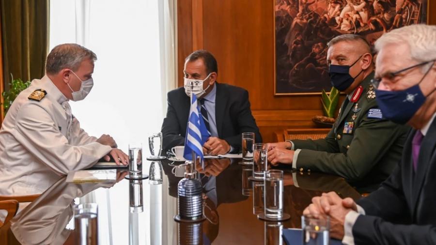 Συνάντηση Παναγιωτόπουλου με τον πρόεδρο της Στρατιωτικής Επιτροπής του ΝΑΤΟ