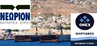 Πρόταση εξαγοράς των ναυπηγείων Ελευσίνας και Σκαραμαγκά υπέβαλλε η αμερικανικών συμφερόντων ΟΝΕΧ Shipyards