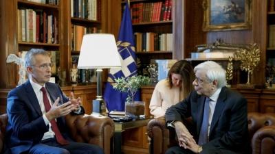 Παυλόπουλος σε Stoltenberg: Παράνομη, αυθαίρετη και επικίνδυνη η ένοπλη επέμβαση της Τουρκίας