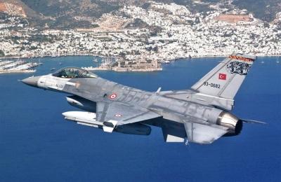 Πτήση ζεύγους τουρκικών μαχητικών F 16 πάνω από Οινούσες και Παναγιά