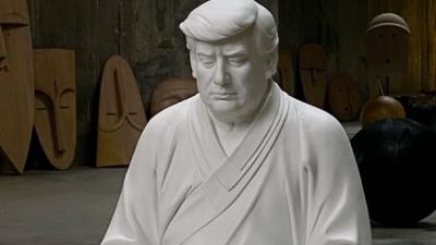 Ανάρπαστα τα κεραμικά με τον Trump... ως Βούδα - Στα 610 δολ. η τιμή τους