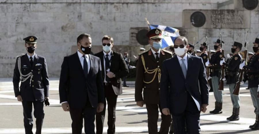 Με τον El - Sisi συναντήθηκε ο υπουργός Άμυνας Παναγιωτόπουλος - Τι αναφέρει η αιγυπτιακή Προεδρία