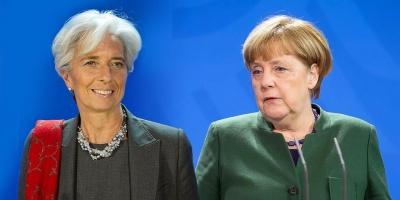 Lagarde και Merkel θα επιβεβαιώσουν τις διαφωνίες για το ελληνικό χρέος – Το ΔΝΤ θα ανακοινώσει ότι μένει ως τεχνικός σύμβουλος