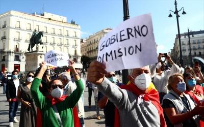 Ισπανία: Διαδηλώσεις στη Μαδρίτη κατά των περιοριστικών μέτρων και του εμβολιασμού