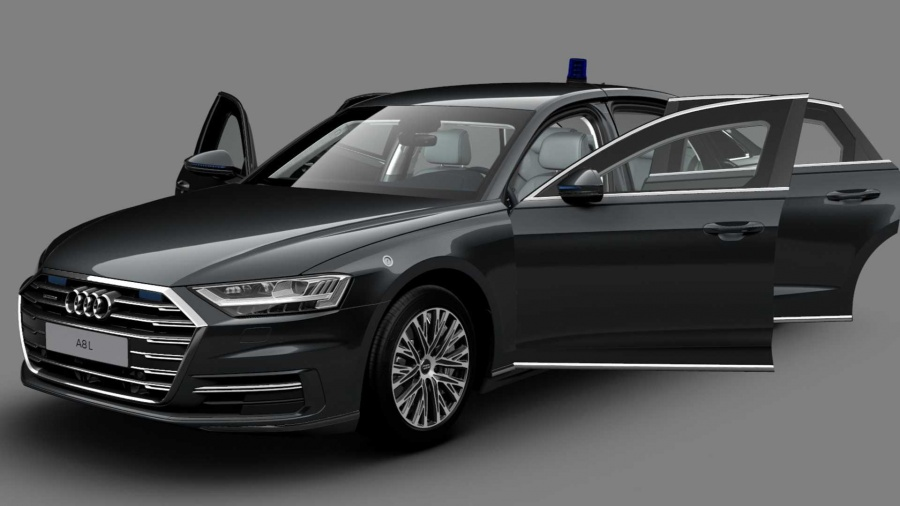 To Audi A8 L είναι μακρύ και θωρακισμένο