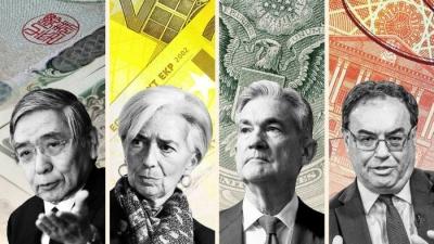 Παραδοχή ήττας από κεντρικές τράπεζες: Επίμονος ο πληθωρισμός - Δεν αντιμετωπίζονται η ισχυρή ζήτηση και τα εφοδιαστικά σοκ