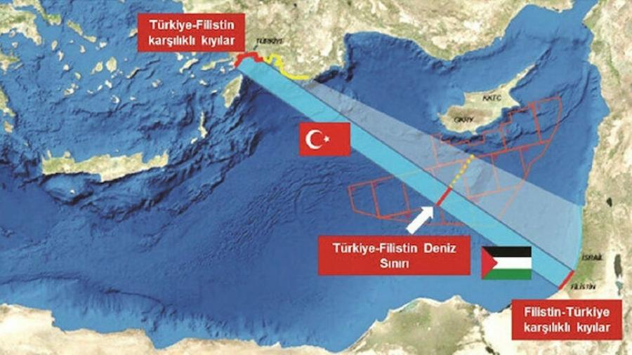 Η Τουρκία θέλει ΑΟΖ με Παλαιστίνη - Yeni Safak: «Χαλάμε το παιχνίδι της Ελλάδας»