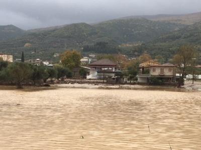 Σωρεία προβλημάτων σε Αιτωλοακαρνανία και Ιωάννινα λόγω των έντονων βροχοπτώσεων