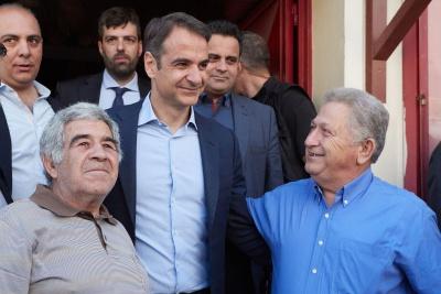Στο Περιστέρι ψήφισε ο Μητσοτάκης: Η ΝΔ είναι πανέτοιμη για εκλογές