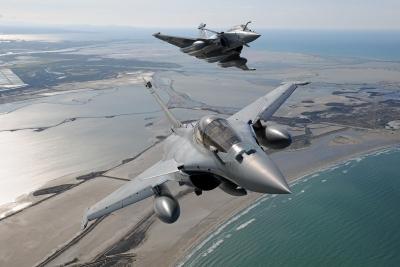 Στην Τανάγρα για την άσκηση «Σκύρος 2021» τέσσερα μαχητικά Rafale της γαλλικής ΠΑ