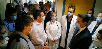 Στον Ευαγγελισμό ο Τσίπρας: Η κατάσταση είναι κρίσιμη – Επιτακτική ανάγκη η ενίσχυση της δημόσιας υγείας