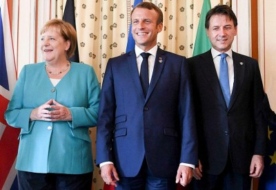 Merkel, Macron και Conte προειδοποιούν την Τουρκία για κυρώσεις εάν συνεχίσει να πουλά όπλα στη Λιβύη