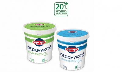 Νέα Συσκευασία με 20% λιγότερο πλαστικό για το Κρι Κρι Στραγγιστό και αγαπημένο 1kg