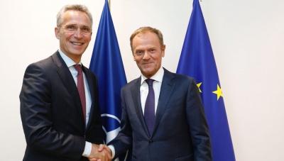 Stoltenberg - Tusk: Μοναδική ευκαιρία για Ελλάδα και ΠΓΔΜ η συμφωνία Τσίπρα και Zaev