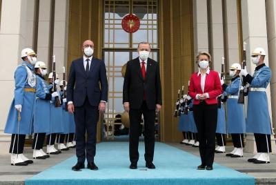 Michel για Τουρκία: Θετικό βήμα η αποκλιμάκωση της έντασης με Ελλάδα και Κύπρο - Von der Leyen: Νέα ορμή στις σχέσεις Βρυξελλών - Άγκυρας
