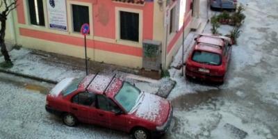 Έντονα καιρικά φαινόμενα και σφοδρή χαλαζόπτωση στην Κέρκυρα