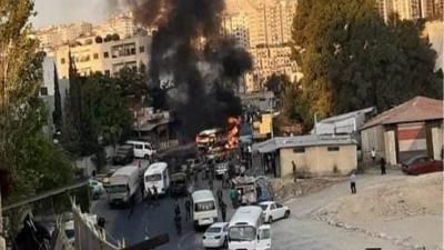 Συρία: Έκρηξη σε στρατιωτικό λεωφορείο στη Δαμασκό