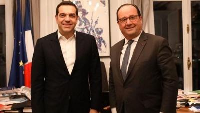 Τσίπρας - Hollande συζήτησαν για το προσφυγικό, την Ευρωζώνη και την Αριστερά στην Ευρώπη