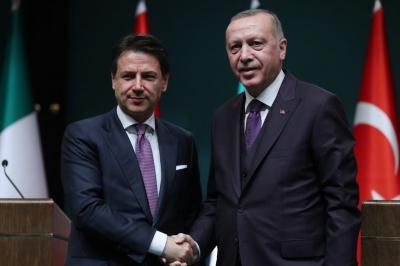 Ο Erdogan ευχαριστεί τον Conte για την ιταλική στήριξη στην Ανατολική Μεσόγειο