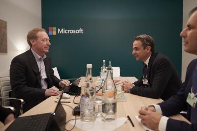Συνάντηση Μητσοτάκη με τον πρόεδρο της Microsoft - Η πρόταση για την ανάδειξη της πολιτικής κληρονομιάς της Ελλάδας