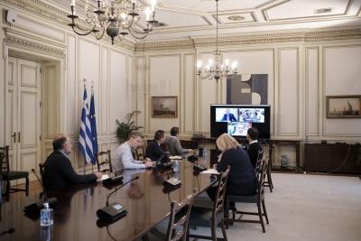 Τηλεδιάσκεψη Μητσοτάκη με Σταϊκούρα ενόψει Eurogroup - H θέση που θα τηρήσει η Ελλάδα για ESM και ευρωομόλογο