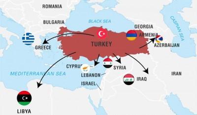 Πως η Τουρκία ενώ έχει εμπλακεί σε 5 μεγάλα μέτωπα αποκομίζει κέρδη; - Χρήζει προσοχής η μετεξέλιξη της σε περιφερειακή δύναμη