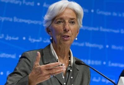 Lagarde: Αυξημένος κίνδυνος για πιο απότομη μείωση της παγκόσμιας ανάπτυξης