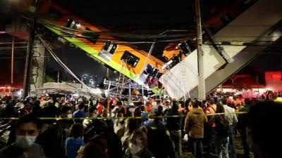 Τραγικό δυστύχημα στο Μεξικό με δεκάδες νεκρούς - Κατέρρευσε γέφυρα του Μετρό