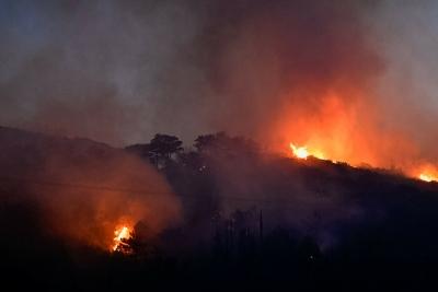 Χωρίς ενεργό μέτωπο οι φωτιές σε Γορτυνία, Ηλεία και Ανατολική Μάνη - Σε επιφυλακή η πυροσβεστική