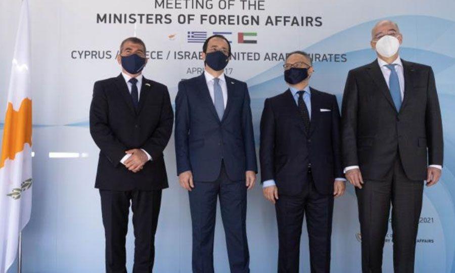 Τετραμερής των ΥΠΕΞ Ελλάδας, Κύπρου, Ισραήλ, ΗΑΕ: Νέα εποχή στις σχέσεις των κρατών
