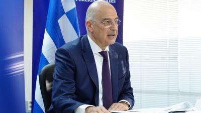 Διπλωματικές πηγές: Ο «μαραθώνιος» Δένδια και ο ρόλος της Ελλάδας ως «γέφυρα μεταξύ Ευρώπης και Μέσης Ανατολής»