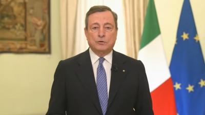 Εμβολιάστηκε κατά του κορωνοϊού ο Ιταλός πρωθυπουργός Mario Draghi