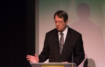 Αναστασιάδης: Η ΕΕ δεν θα δεχθεί ποτέ την τουρκική πρόταση για δύο κράτη στην Κύπρο