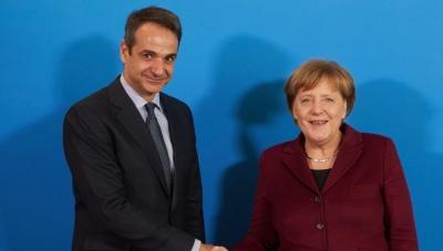 Στην Αθήνα η Merkel την επόμενη εβδομάδα - Μητσοτάκης: Ανυπομονώ να συνεργαστούμε μετά τις εθνικές εκλογές