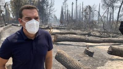 Στο Κρυονέρι μεταβαίνει ο Αλέξης Τσίπρας – Επιτόπια ενημέρωση για την πυρκαγιά στην Αττική