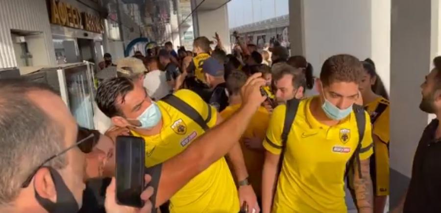 ΑΕΚ: Θερμή υποδοχή για την «Ένωση» στο Ηράκλειο