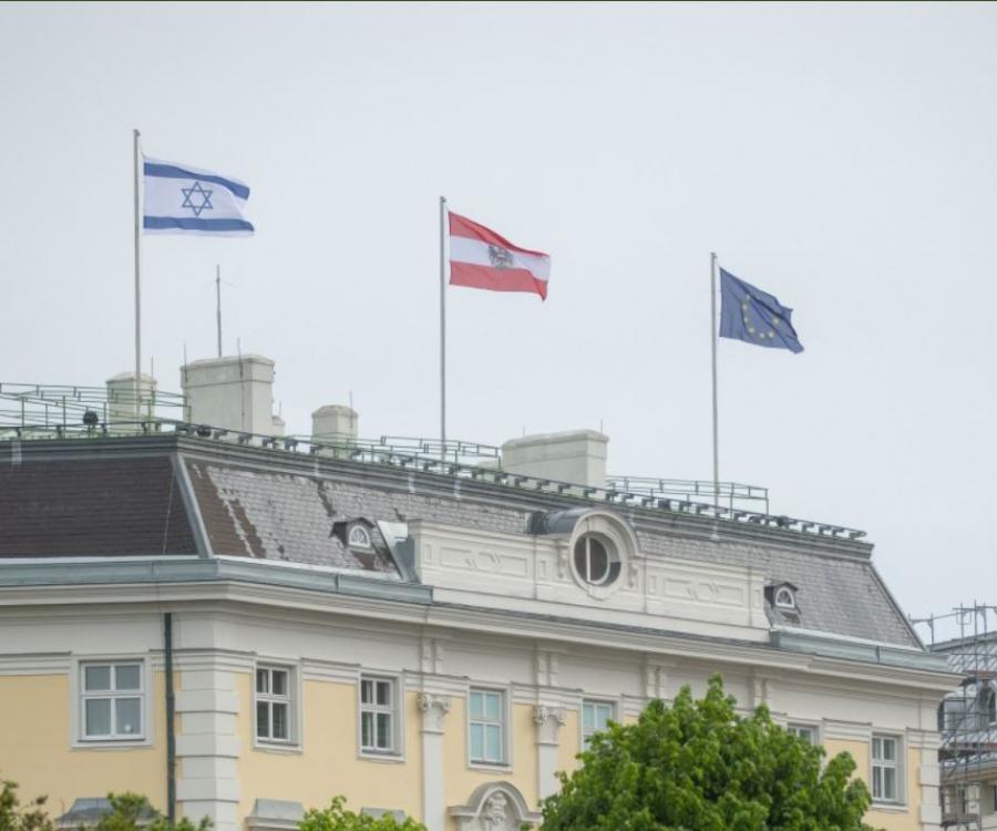 Οργισμένη η Τεχεράνη για την ισραηλινή σημαία στη Βιέννη