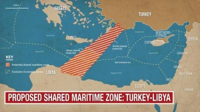 Ανησυχία στην Αθήνα – Αναρτώνται από τον ΟΗΕ οι συντεταγμένες ΑΟΖ Τουρκίας και Λιβύης – Ανοίγει ο δρόμος για έρευνες νότια της Κρήτης