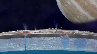 NASA: Ο μεγάλος υπόγειος ωκεανός στον δορυφόρο Ευρώπη θα μπορούσε να φιλοξενεί ζωή