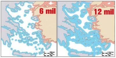 Η επέκταση των χωρικών υδάτων στα 12 μίλια στο Αιγαίο από την Ελλάδα προσκρούει σε νομικά εμπόδια - Η Τουρκία θα το θεωρήσει αιτία πολέμου