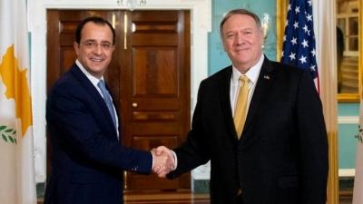 Τηλεφωνική επικοινωνία Pompeo - Χριστοδουλίδη για Κυπριακό, Αν.Μεσόγειο και τη συνέχιση της συνεργασίας Κύπρου - ΗΠΑ