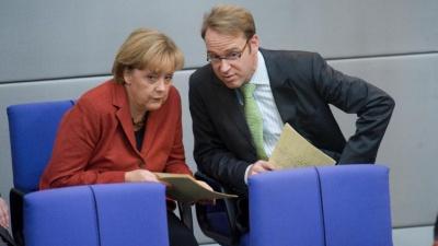 Στο χείλος της ύφεσης η Γερμανία - Δεν χρειάζονται μέτρα διαμηνύει η Merkel παρά τις προειδοποιήσεις Weidmann και αναλυτών