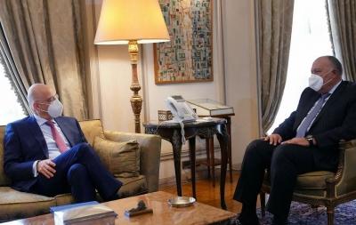 Στο Κάιρο ο Δένδιας - Συνάντηση με Shoukry για διμερείς σχέσεις και εξελίξεις στην Ανατολική Μεσόγειο