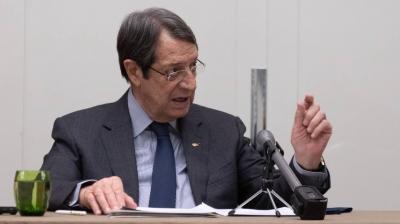 Αναστασιάδης (Κύπρος): Συνεχίζουμε πάντοτε τις προσπάθειες για επανέναρξη του διαλόγου για το Κυπριακό