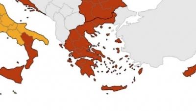 Χάρτης ECDC: Μικρή βελτίωση για την Ελλάδα - Στο «πορτοκαλί» όλη η χώρα