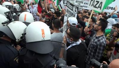 Επεισόδια έξω από την ισραηλινή πρεσβεία – Ένταση και χημικά από την αστυνομία