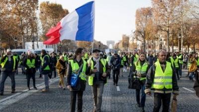 Γαλλία: Δακρυγόνα της αστυνομίας κατά των διαδηλωτών στην επέτειο των Κίτρινων Γιλέκων